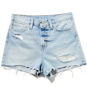 BDG girlfriend high rise jean shorts